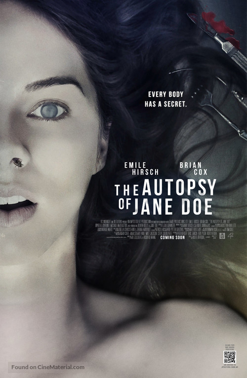 The Autopsy of Jane Doe - British Movie Poster