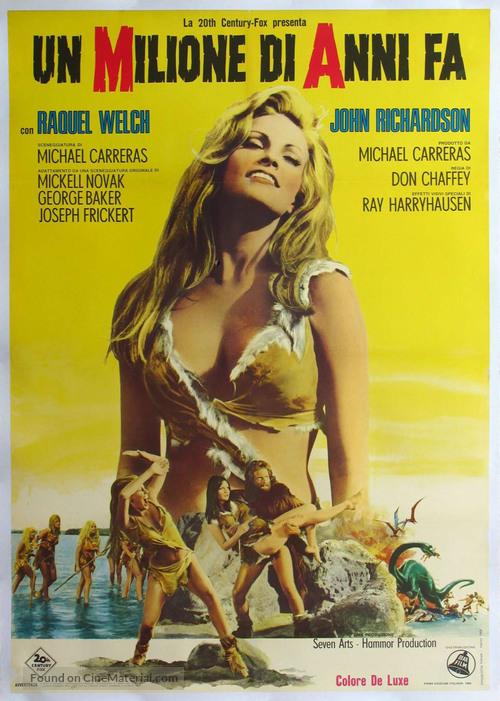 One Million Years B.C. - Italian Movie Poster