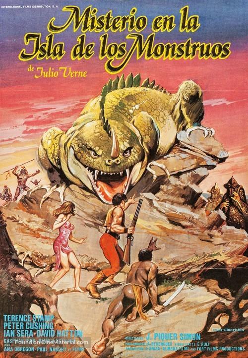 Misterio en la isla de los monstruos - Spanish Movie Poster