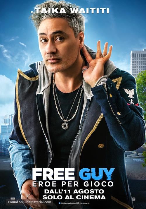 Free Guy - Italian Movie Poster