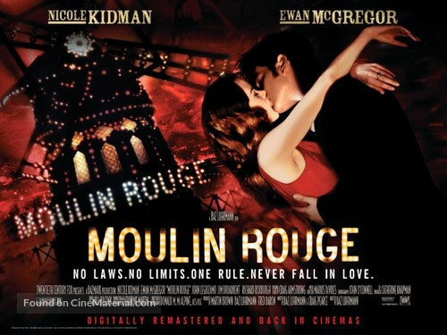 Moulin Rouge - British Re-release movie poster