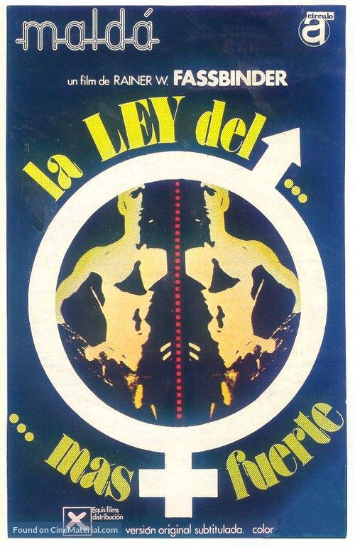 Faustrecht der Freiheit - Spanish Movie Poster