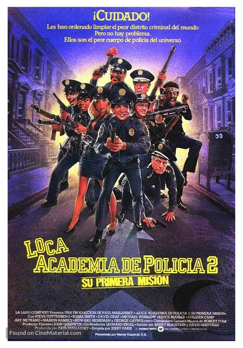 Police Academy 2: Their First Assignment - Spanish Movie Poster
