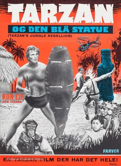 Tarzan's Jungle Rebellion - Danish Movie Poster