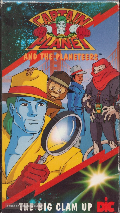 """""""Captain Planet and the Planeteers"""" - VHS movie cover"""