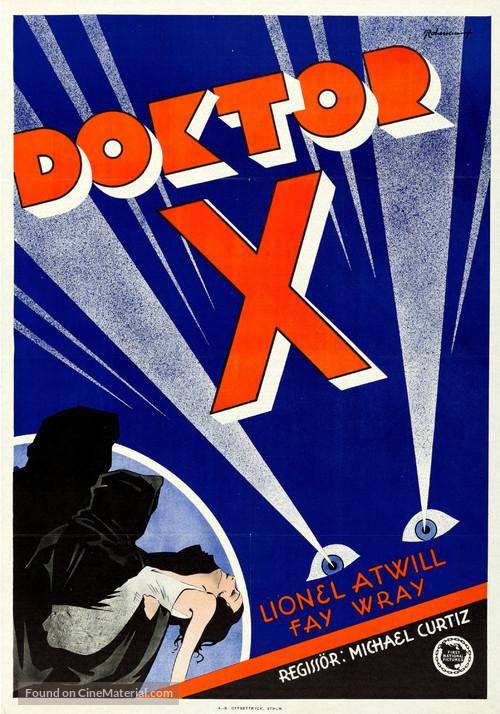 Doctor X - Swedish Movie Poster