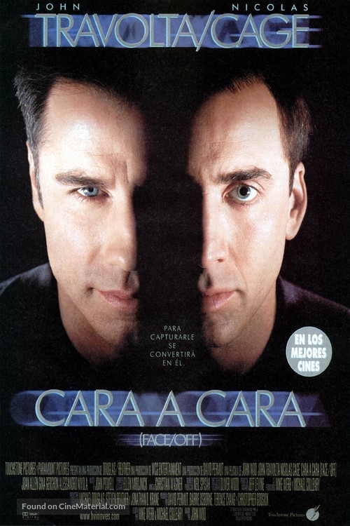 Face/Off - Spanish Movie Poster