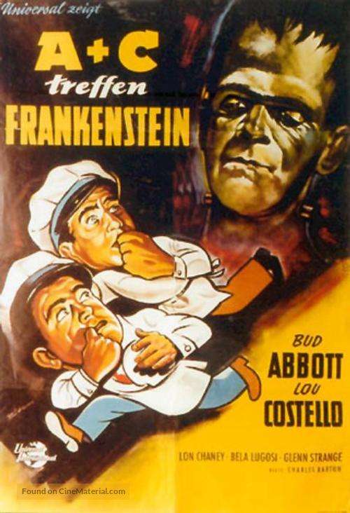 Bud Abbott Lou Costello Meet Frankenstein - German Movie Poster