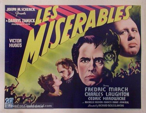 Les misérables (1935) movie poster