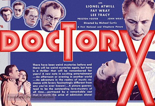 Doctor X - British Movie Poster
