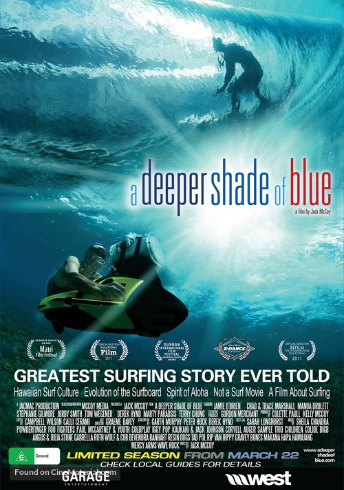 A Deeper Shade of Blue - Australian Movie Poster