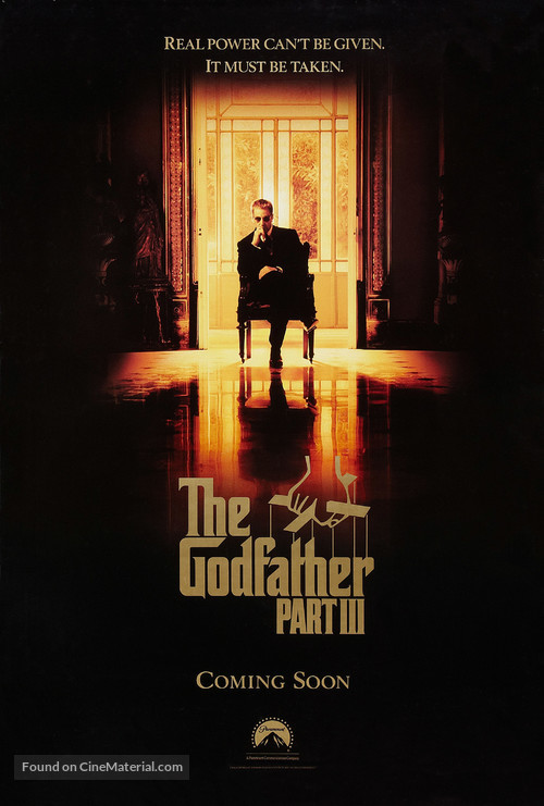 The Godfather: Part III advance poster