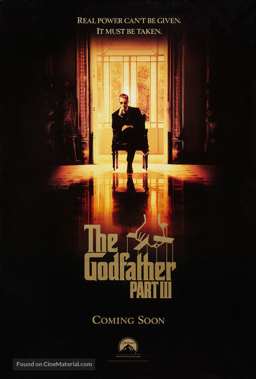The Godfather: Part III - Advance poster