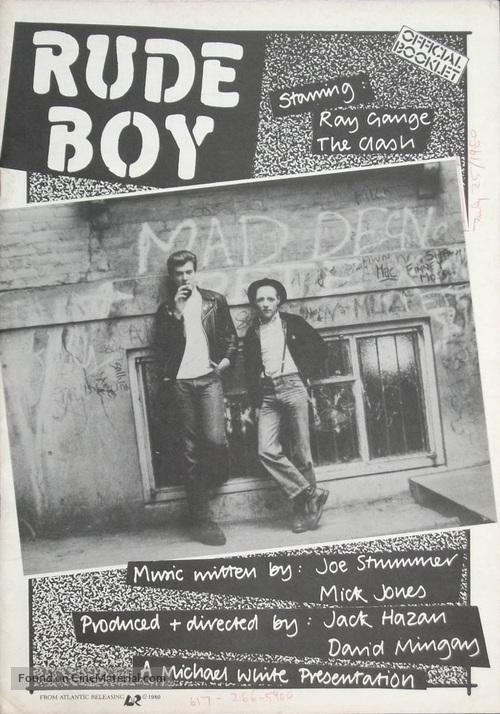 Rude Boy - British Movie Poster