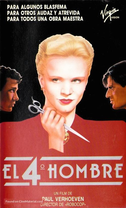 De vierde man - Spanish VHS movie cover