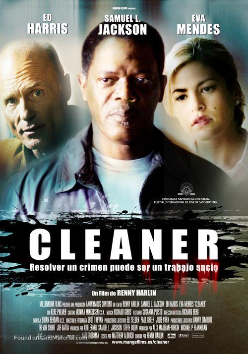 Cleaner - Spanish Movie Poster
