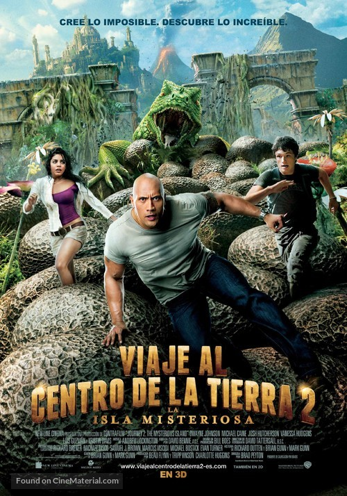 Journey 2: The Mysterious Island - Spanish Movie Poster