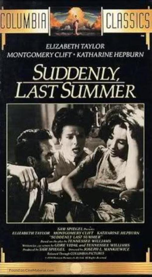 Suddenly, Last Summer - VHS cover
