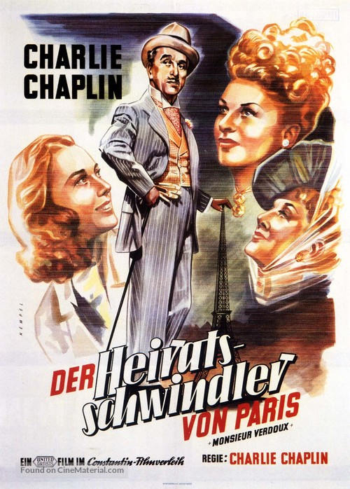 Monsieur Verdoux - German Movie Poster