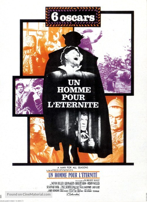 A Man for All Seasons - French Movie Poster