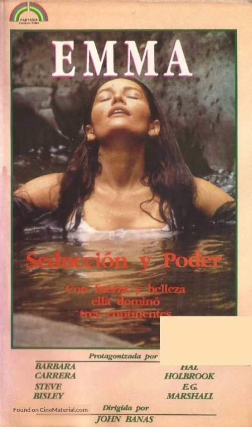 """Emma: Queen of the South Seas"" - Argentinian VHS movie cover"