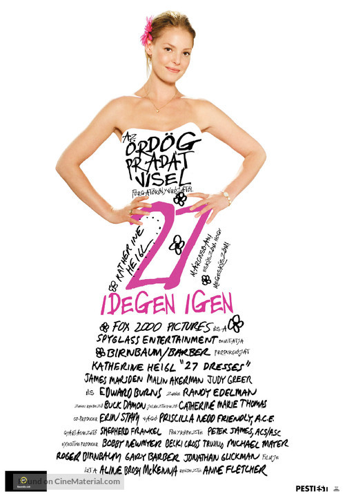 27 Dresses - Hungarian Movie Poster