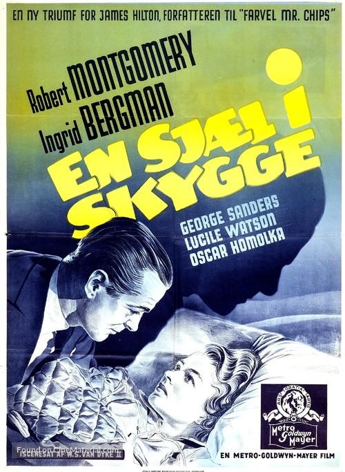 Rage in Heaven - Danish Movie Poster