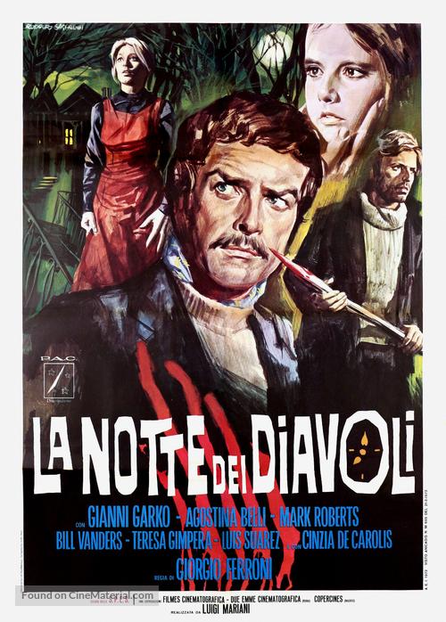 La notte dei diavoli - Italian Movie Poster