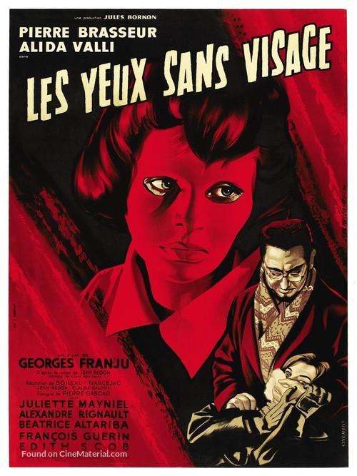 Les yeux sans visage - French Movie Poster