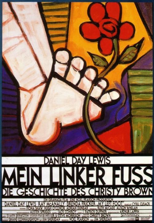 My Left Foot - German Movie Poster