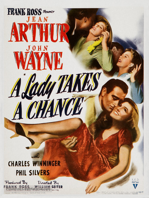 A Lady Takes a Chance - Movie Poster