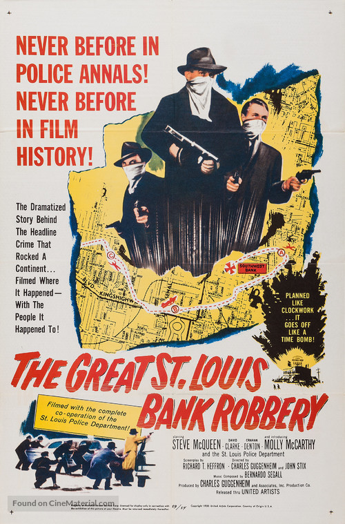 The Great St. Louis Bank Robbery - Movie Poster