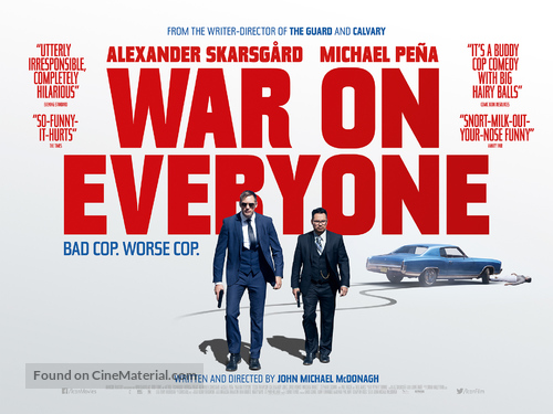 War on Everyone - British Movie Poster