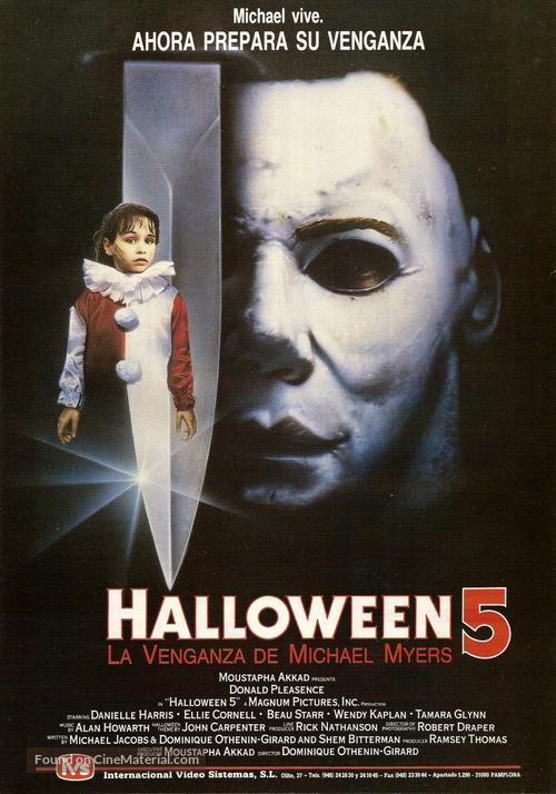 Halloween 5 - Spanish Movie Poster