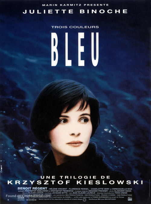 Trois couleurs: Bleu - French Movie Poster