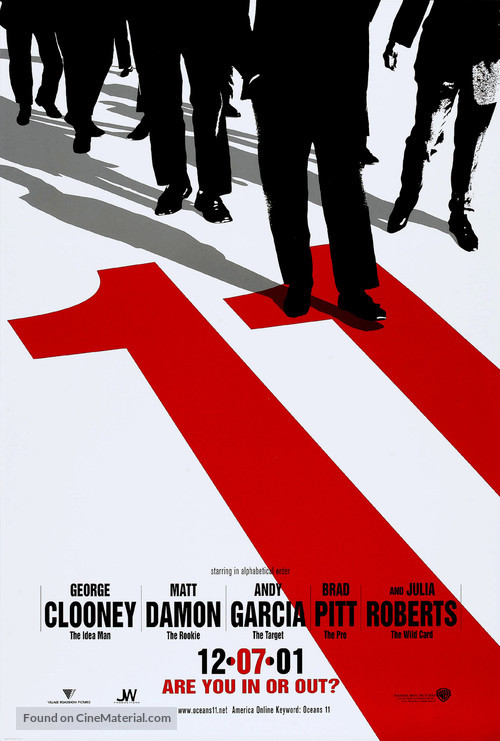 Ocean's Eleven - Teaser movie poster