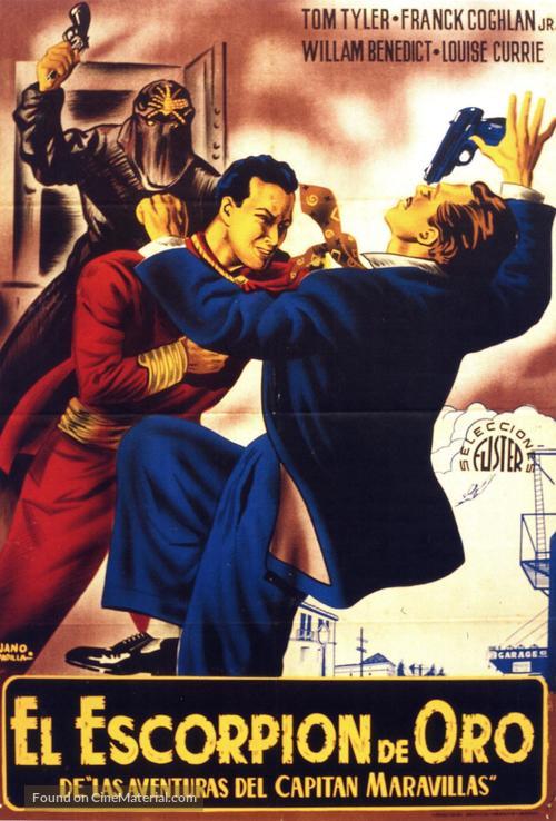 Adventures of Captain Marvel - Spanish Movie Poster