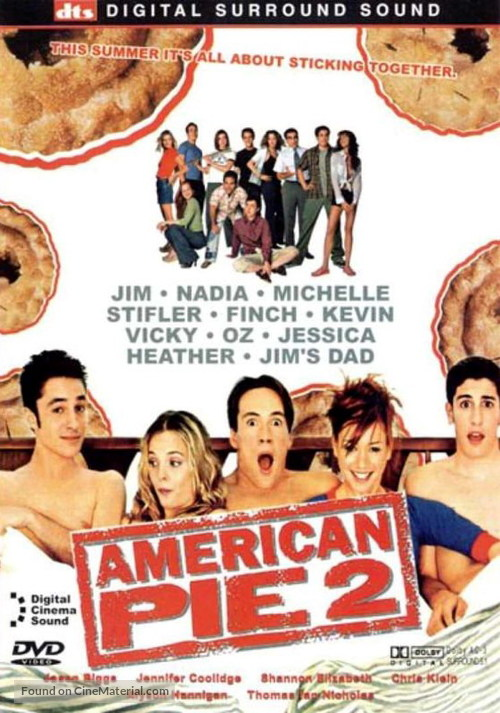 American Pie 2 2001 Dvd Movie Cover