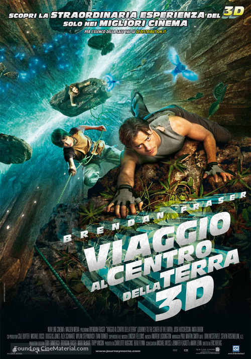 Journey to the Center of the Earth - Italian Movie Poster