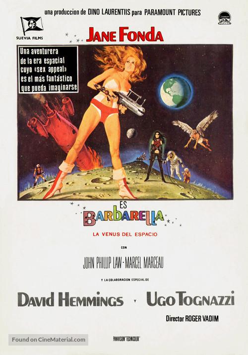 Barbarella - Spanish Movie Poster