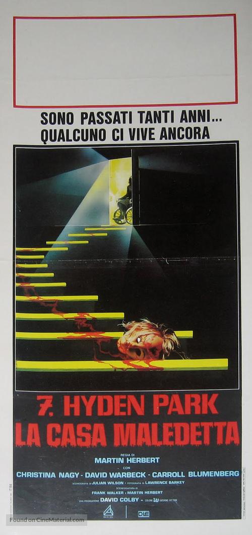 7, Hyden Park: la casa maledetta - Italian Movie Poster