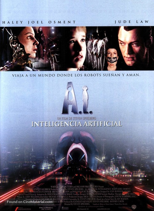 Artificial Intelligence: AI - Spanish Movie Poster