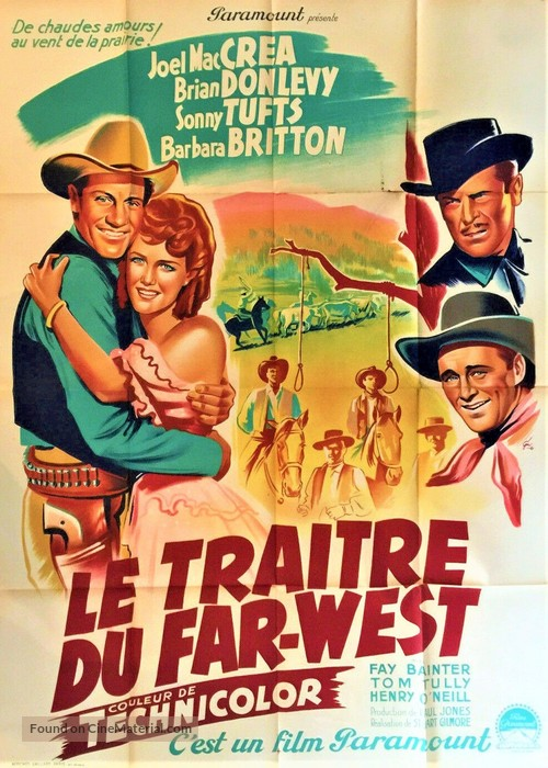 The Virginian - French Movie Poster