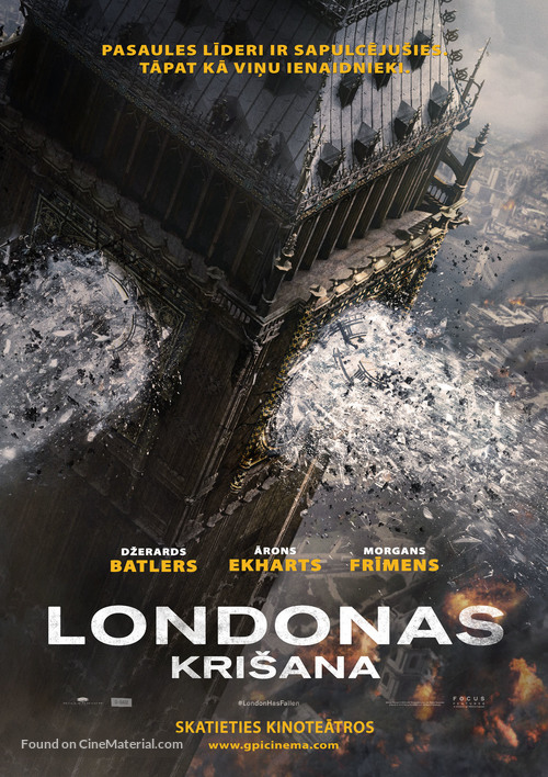 London Has Fallen - Latvian Movie Poster