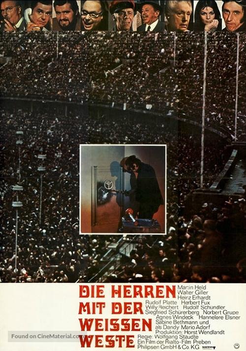 Die Herren mit der weissen Weste - German Movie Poster