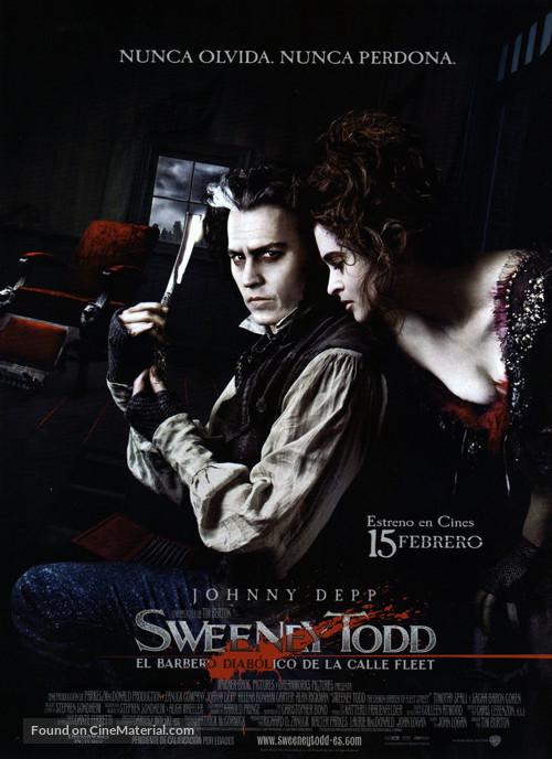 Sweeney Todd: The Demon Barber of Fleet Street - Spanish Movie Poster