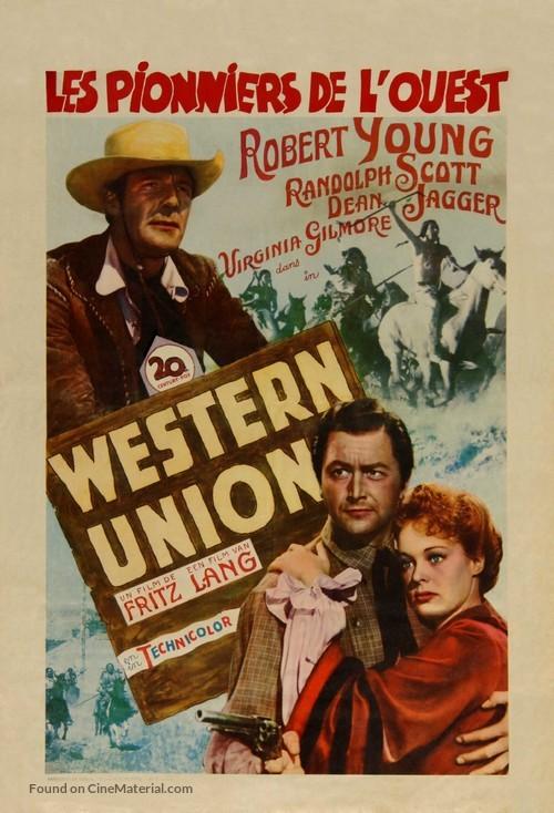 Western Union - Belgian Movie Poster