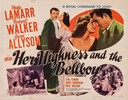 Her Highness and the Bellboy - Movie Poster