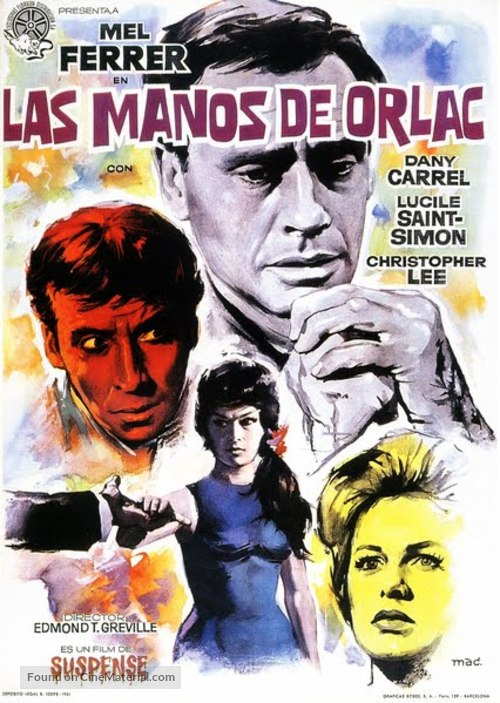 The Hands of Orlac - Spanish Movie Poster
