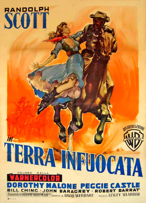 Tall Man Riding - Italian Movie Poster